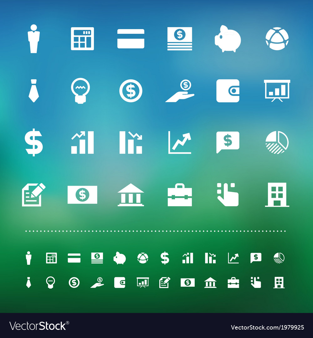 Retina business and finance icon set vector | Price: 1 Credit (USD $1)