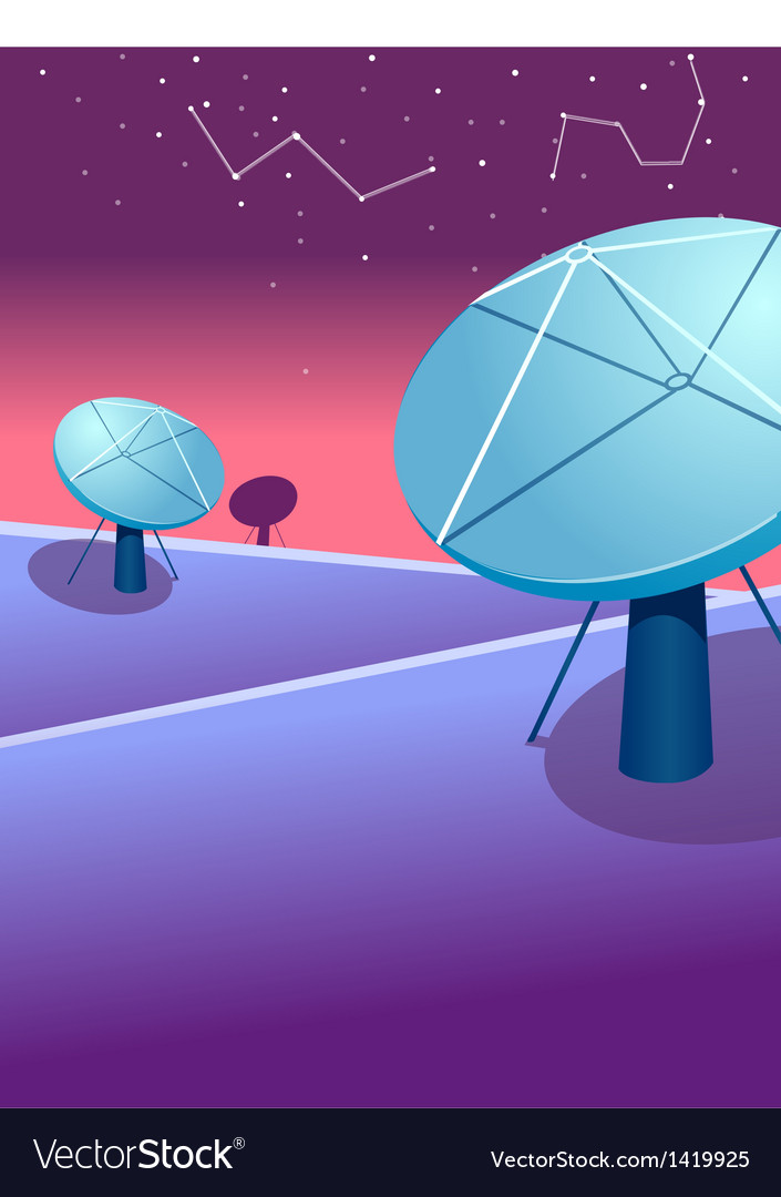 Satellite dishes astrology sign vector | Price: 1 Credit (USD $1)