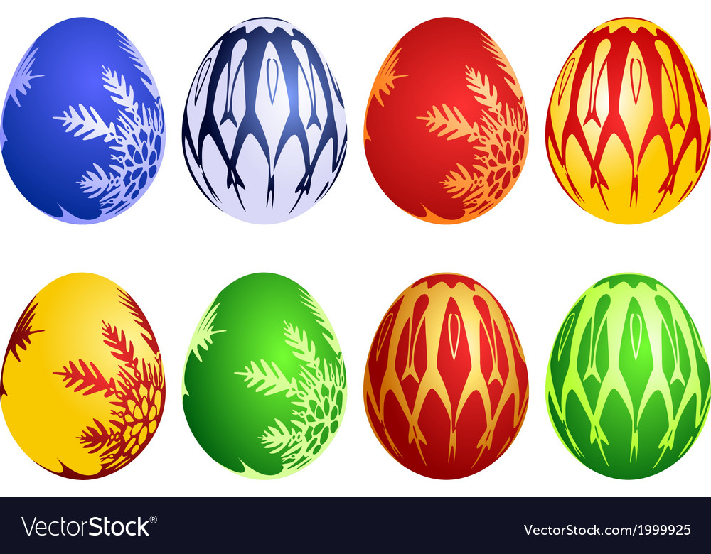 Set of easter eggs vector   Price: 1 Credit (USD $1)
