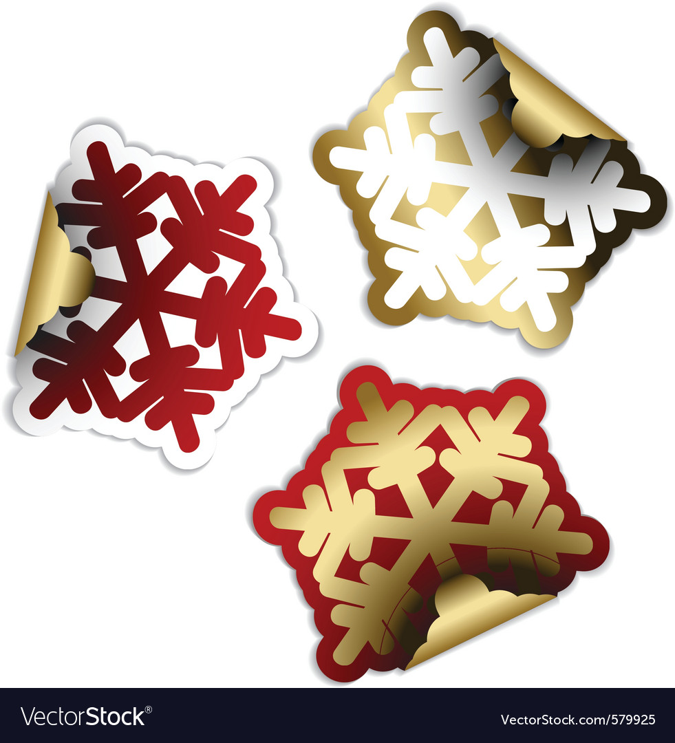 Snow flakes vector | Price: 1 Credit (USD $1)