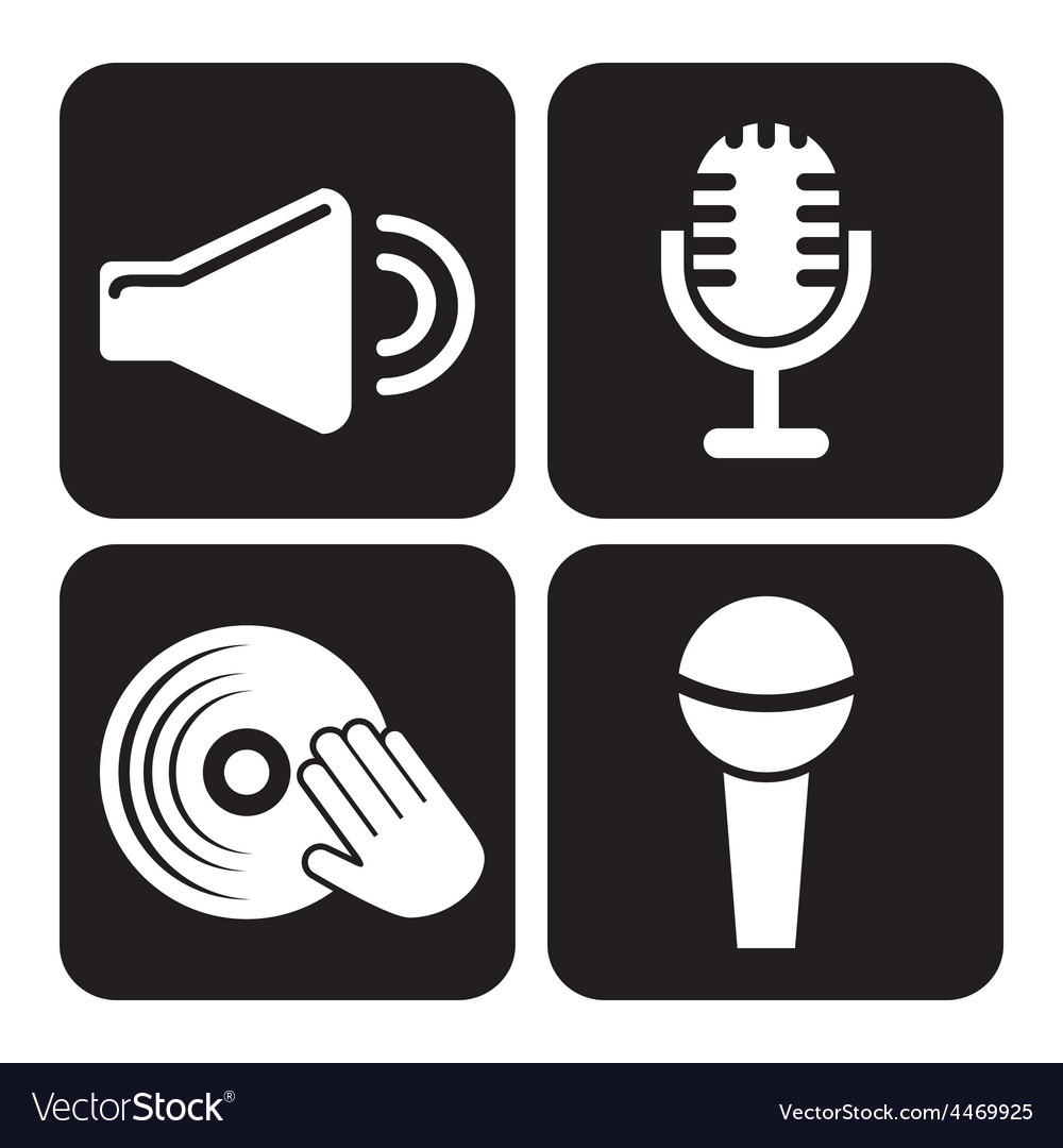 Sound icons vector | Price: 1 Credit (USD $1)