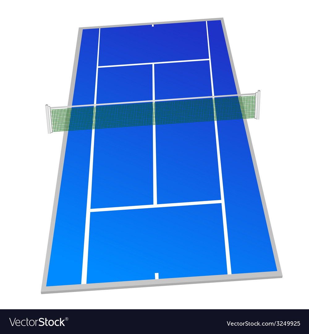 Tennis court blue color vector | Price: 1 Credit (USD $1)