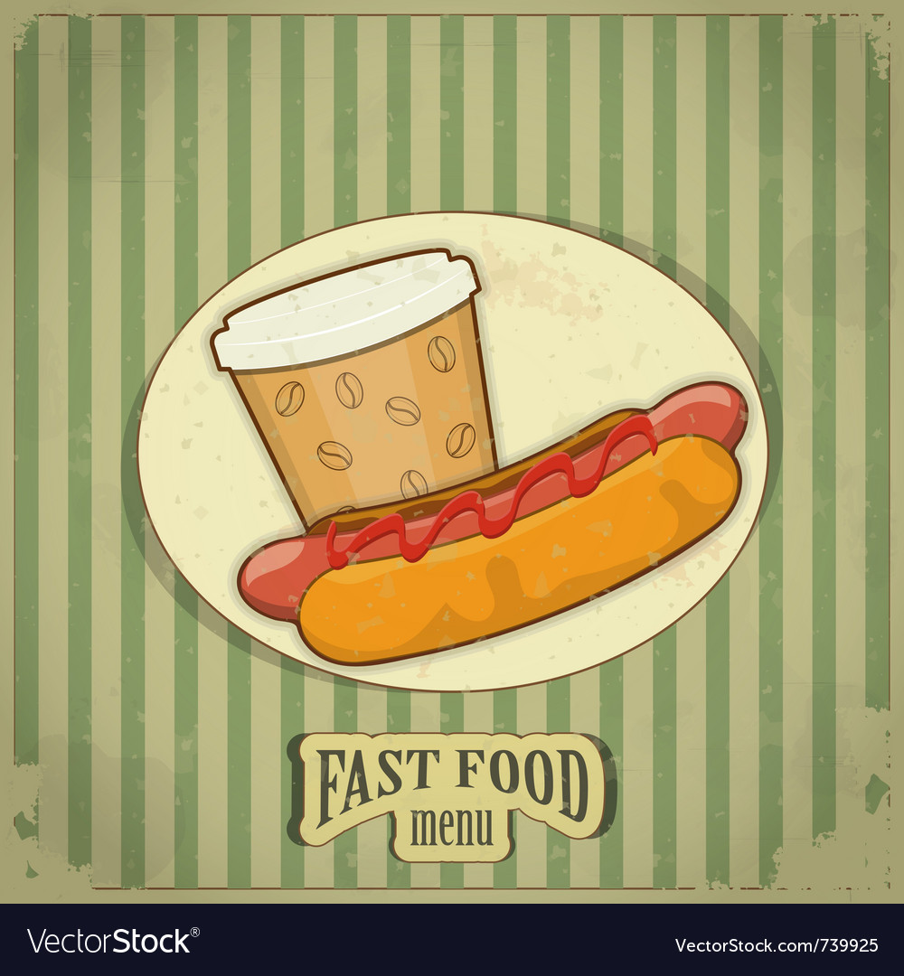 Vintage fast food menu vector | Price: 3 Credit (USD $3)