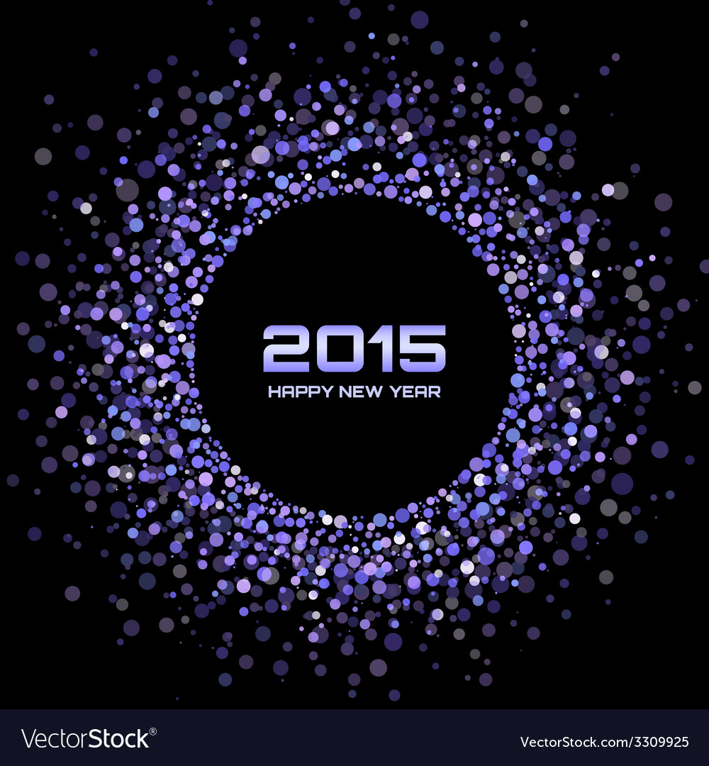 Violet bright new year 2015 background vector | Price: 1 Credit (USD $1)