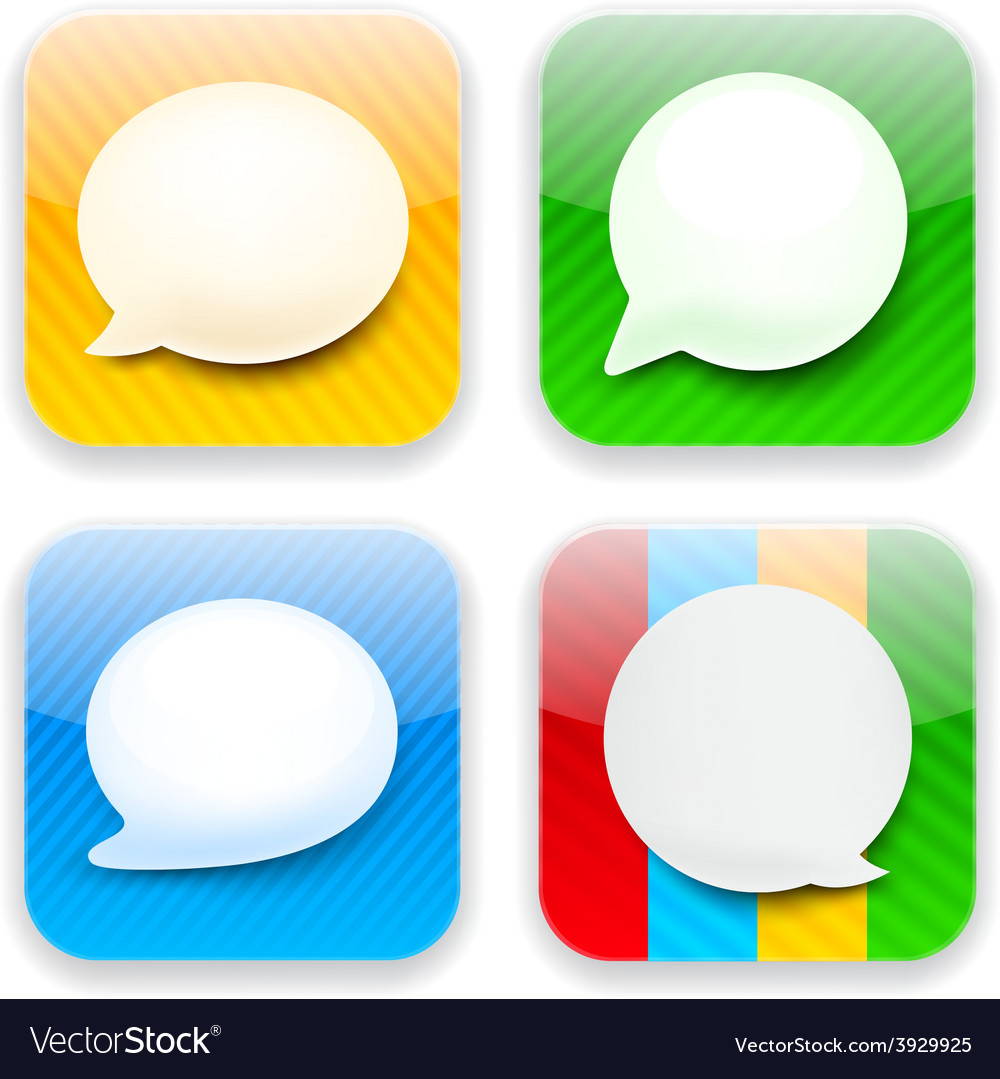 Web speech bubble app icons vector | Price: 1 Credit (USD $1)