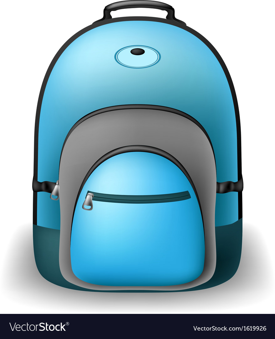 Blue school bag vector | Price: 1 Credit (USD $1)