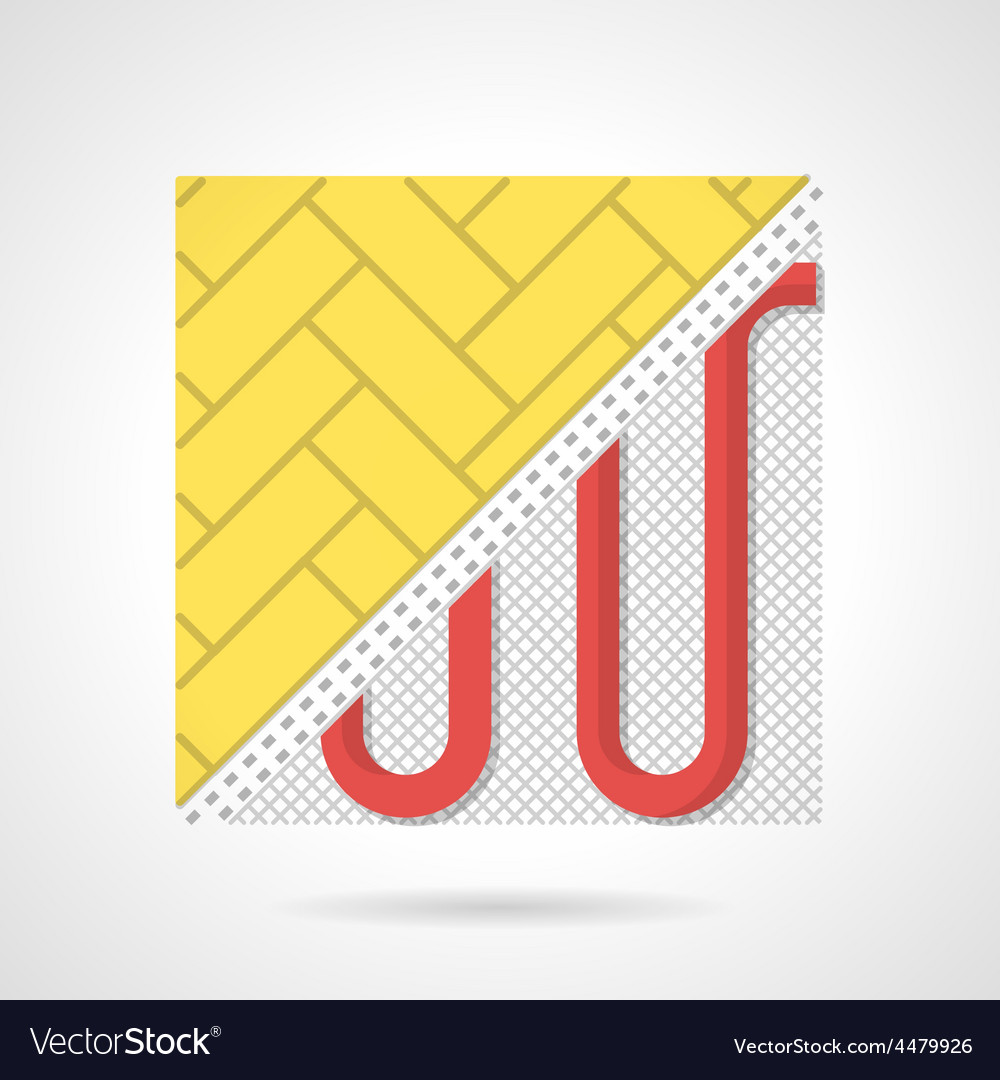 Colorful icon for heated floor vector | Price: 1 Credit (USD $1)
