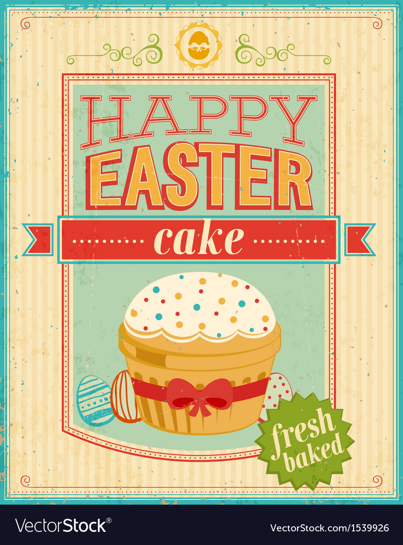 Easter cake color vector | Price: 1 Credit (USD $1)