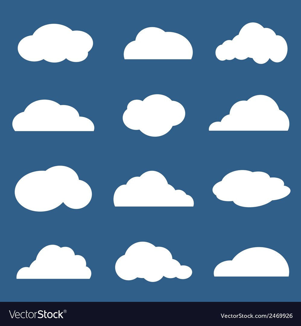 Group of clouds vector | Price: 1 Credit (USD $1)