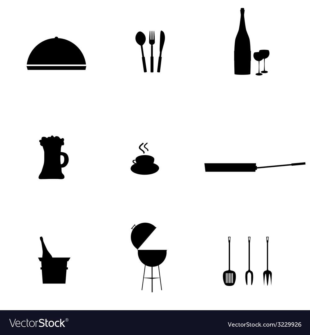 Kitchen accessories black vector   Price: 1 Credit (USD $1)