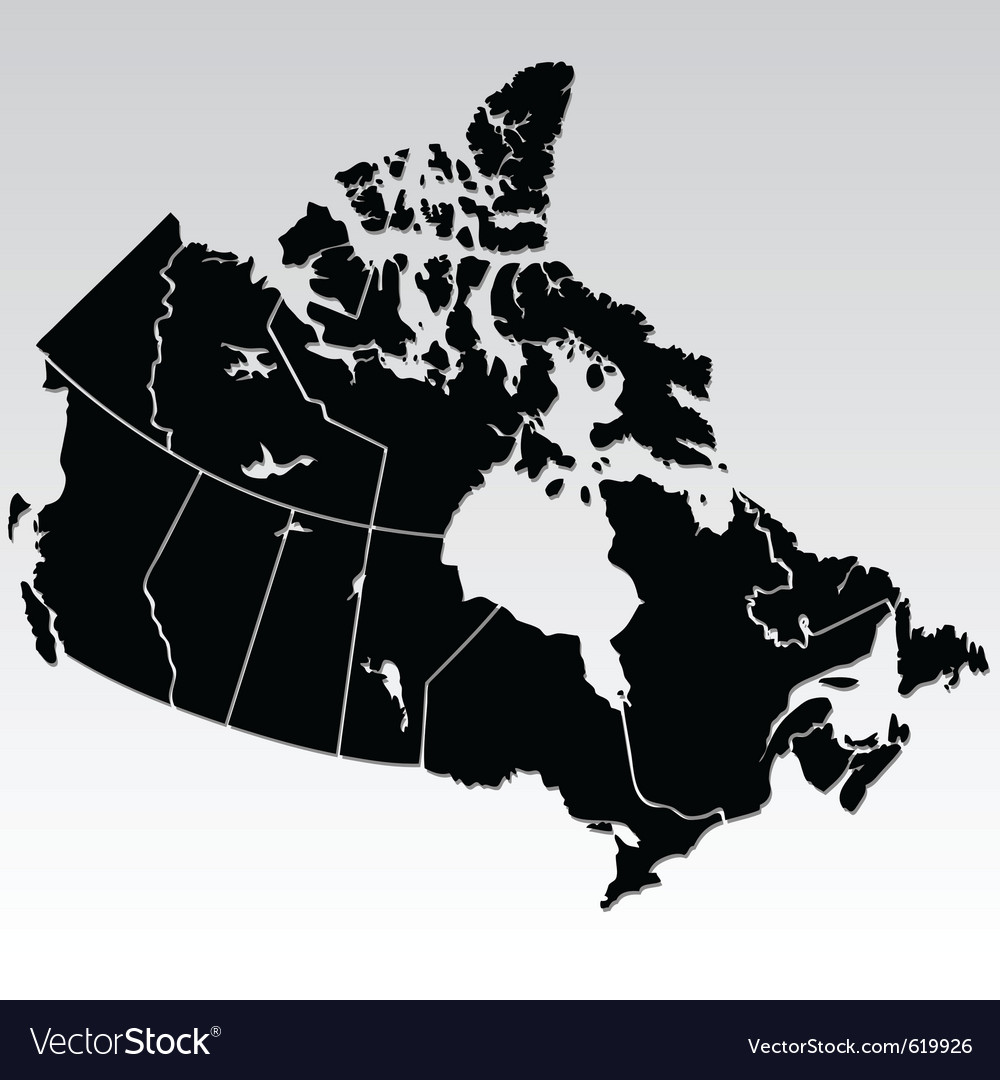 Map of canada vector | Price: 1 Credit (USD $1)