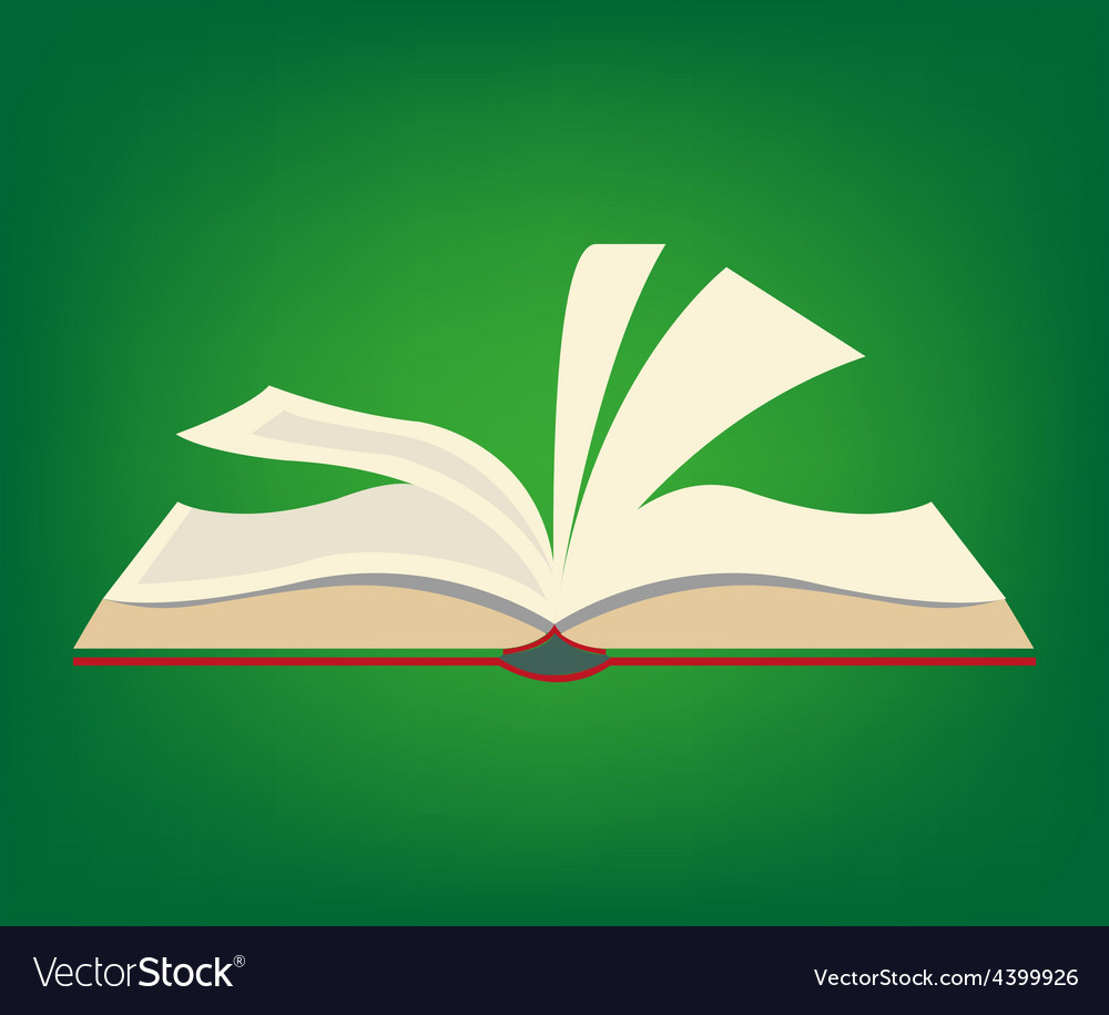 Open book vector | Price: 3 Credit (USD $3)