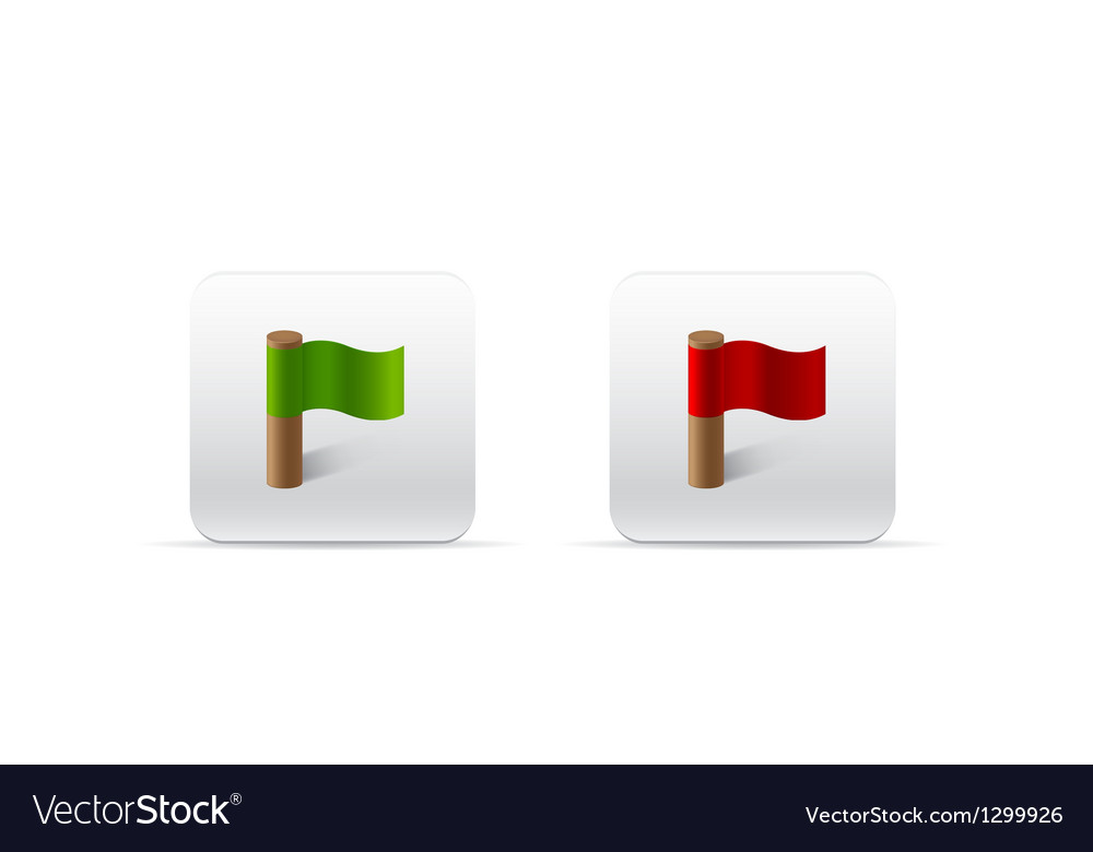 Red and green flags for web vector | Price: 1 Credit (USD $1)