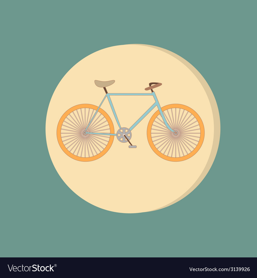Retro bicycle icon symbol of transport icon of a vector | Price: 1 Credit (USD $1)
