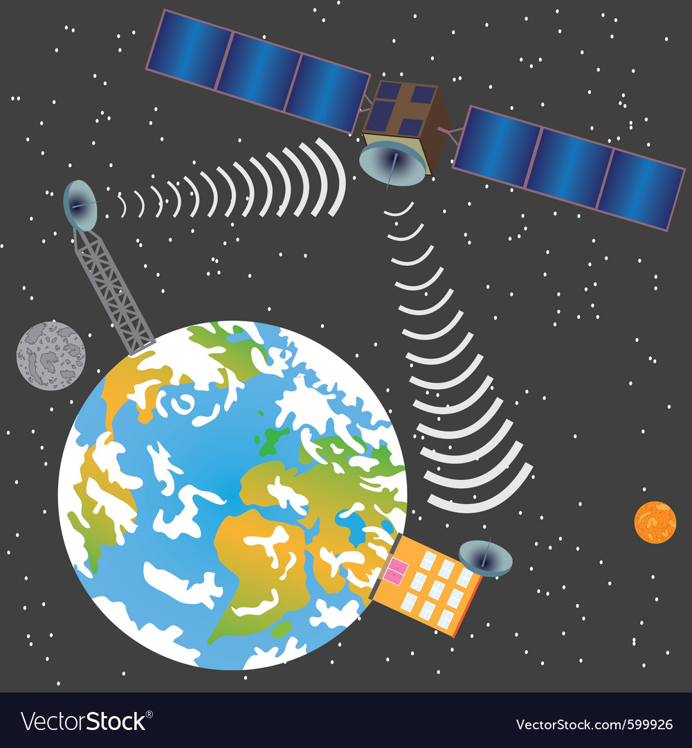 Satellite transmit signal vector | Price: 1 Credit (USD $1)
