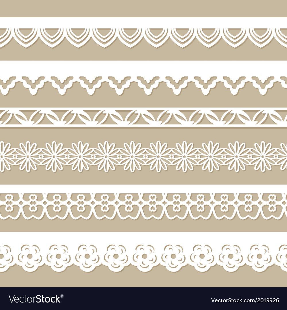 Set of seamless paper laces vector | Price: 1 Credit (USD $1)