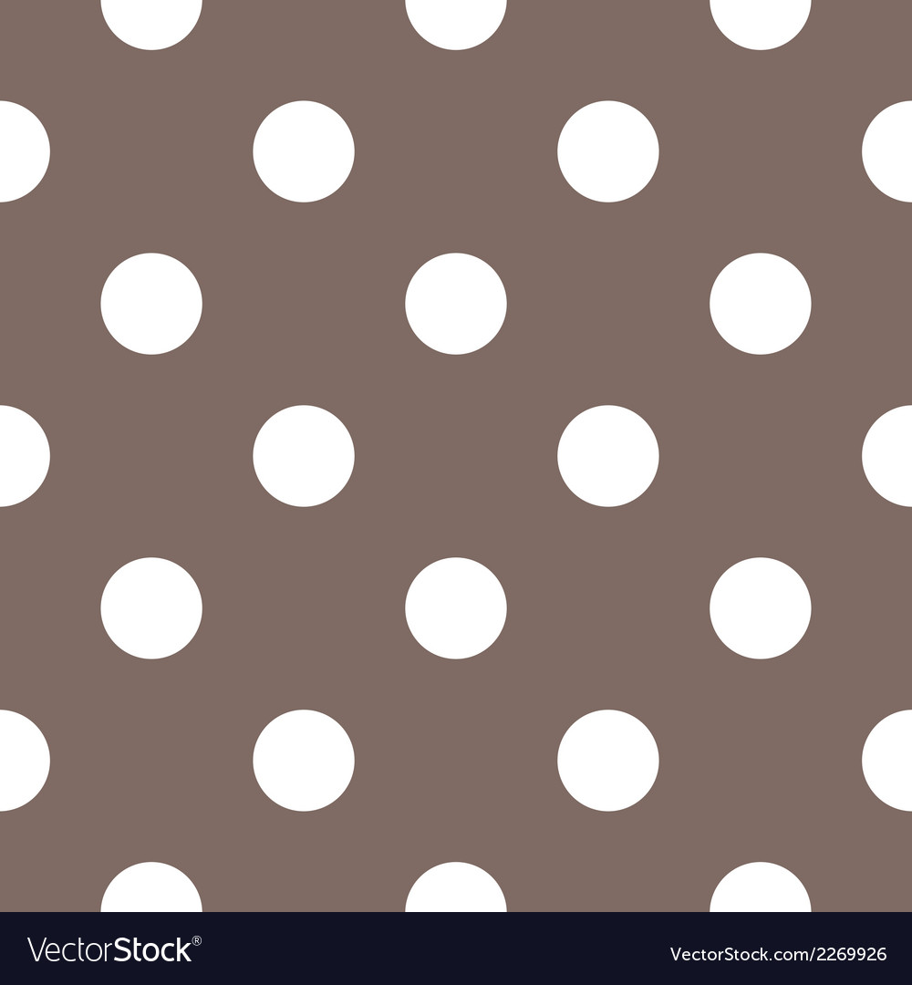 Tile white polka dots on brown background vector | Price: 1 Credit (USD $1)