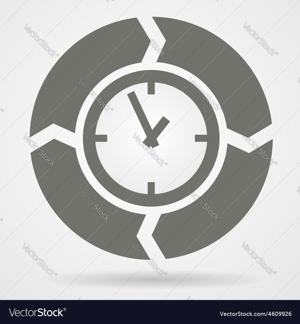 Time cycle web icon vector | Price: 1 Credit (USD $1)