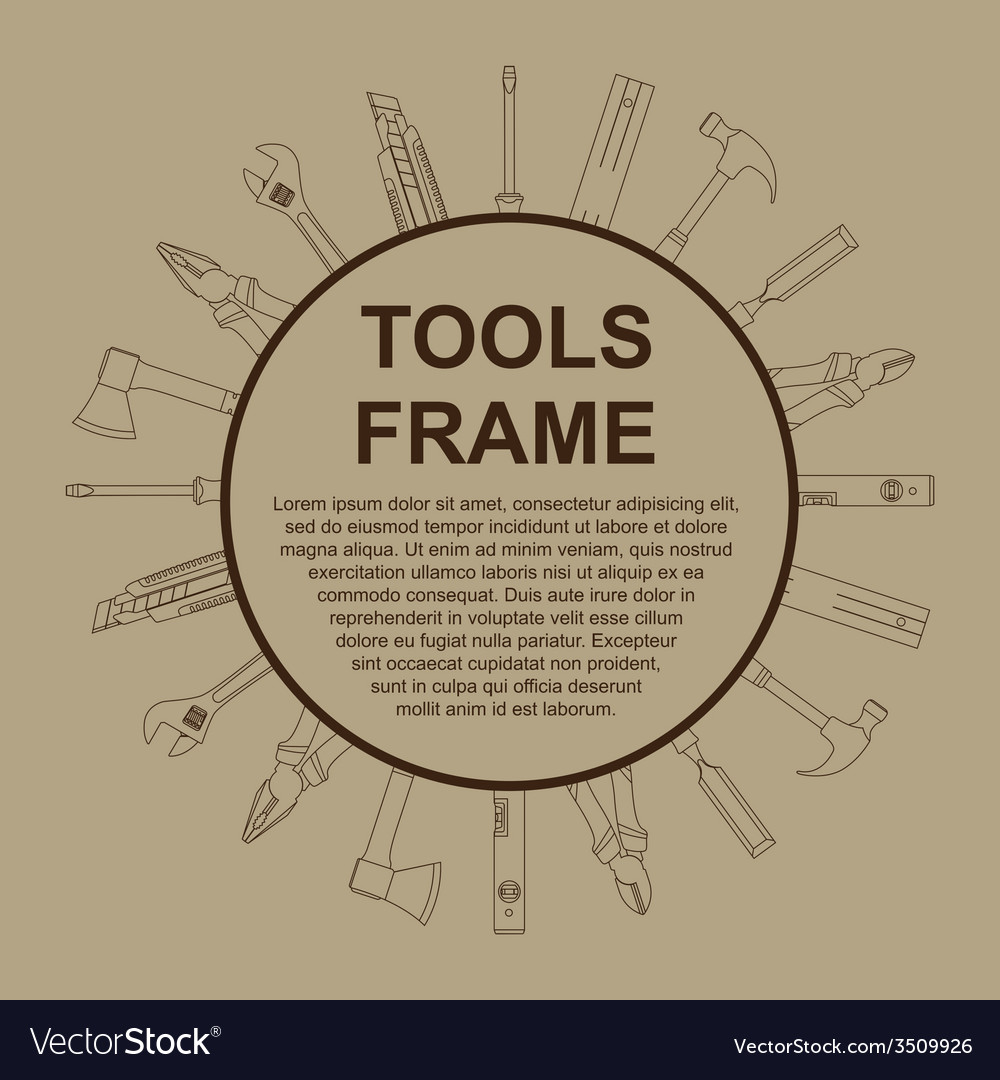 Tools frame 2 vector   Price: 1 Credit (USD $1)