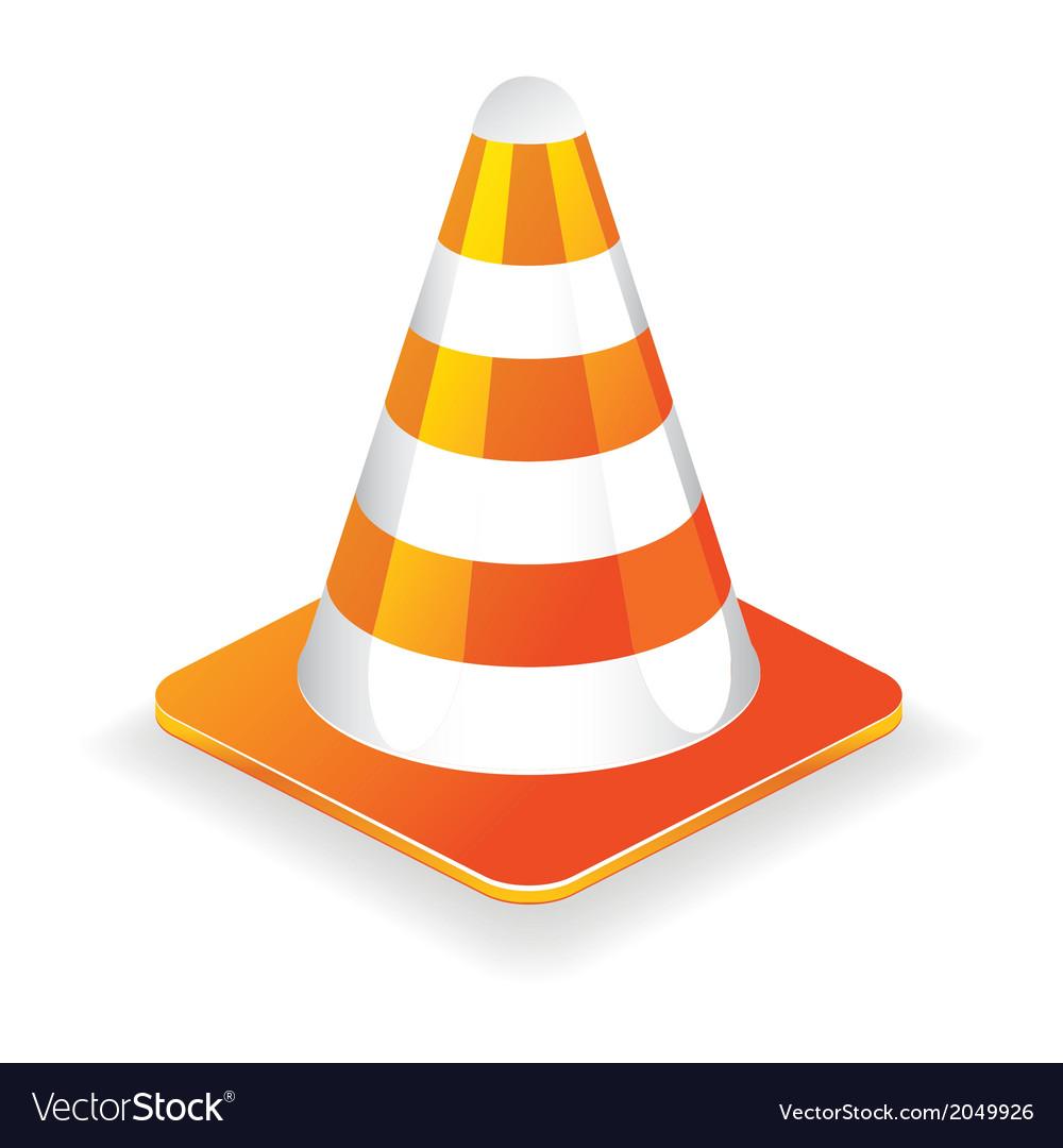 Traffic cone icon vector | Price: 1 Credit (USD $1)