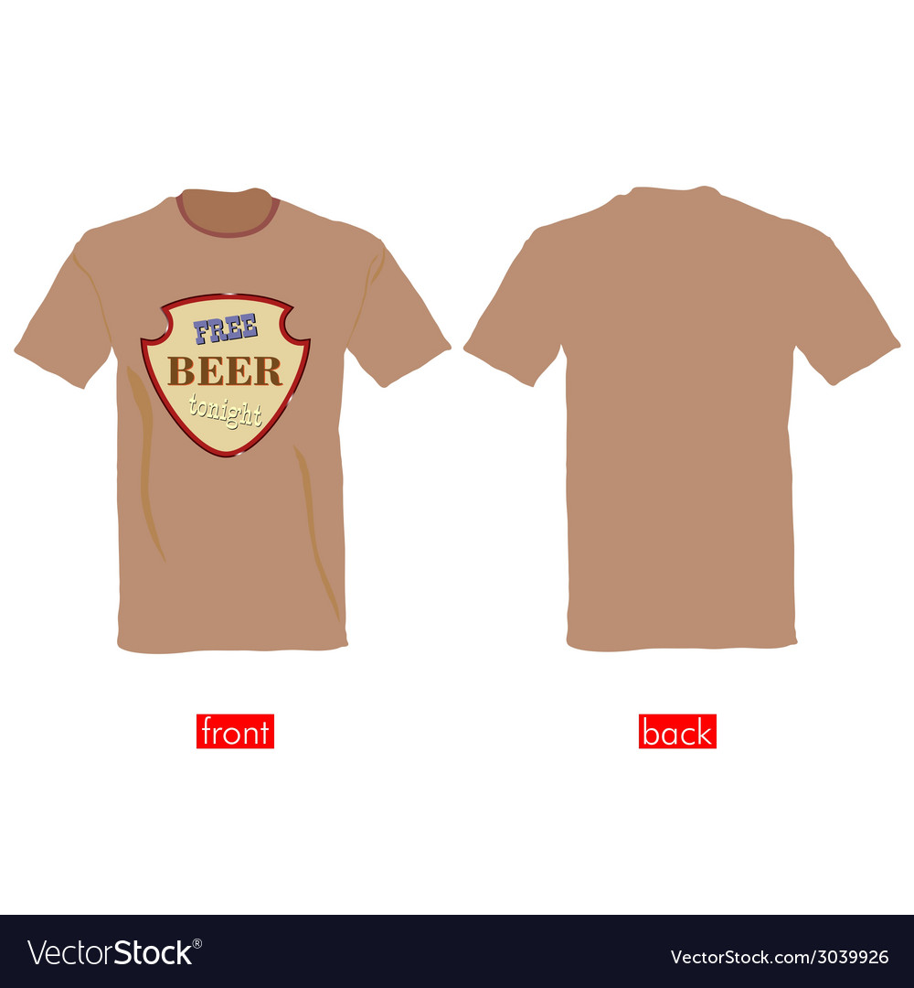 T-shirts with free beer tonight vector | Price: 1 Credit (USD $1)