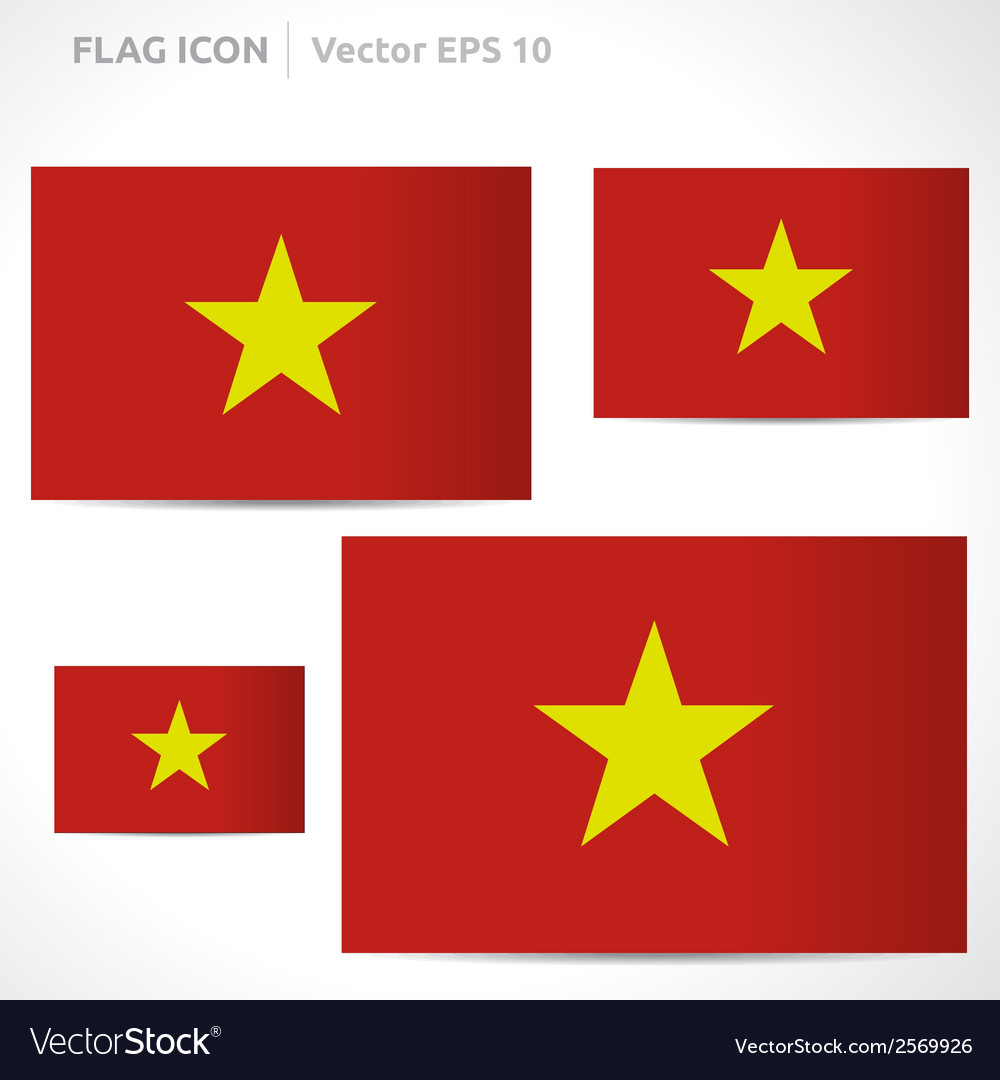 Vietnam flag template vector | Price: 1 Credit (USD $1)
