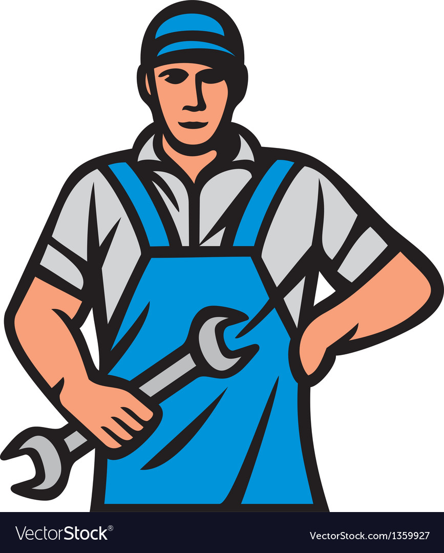 Auto mechanics - professional worker vector   Price: 1 Credit (USD $1)