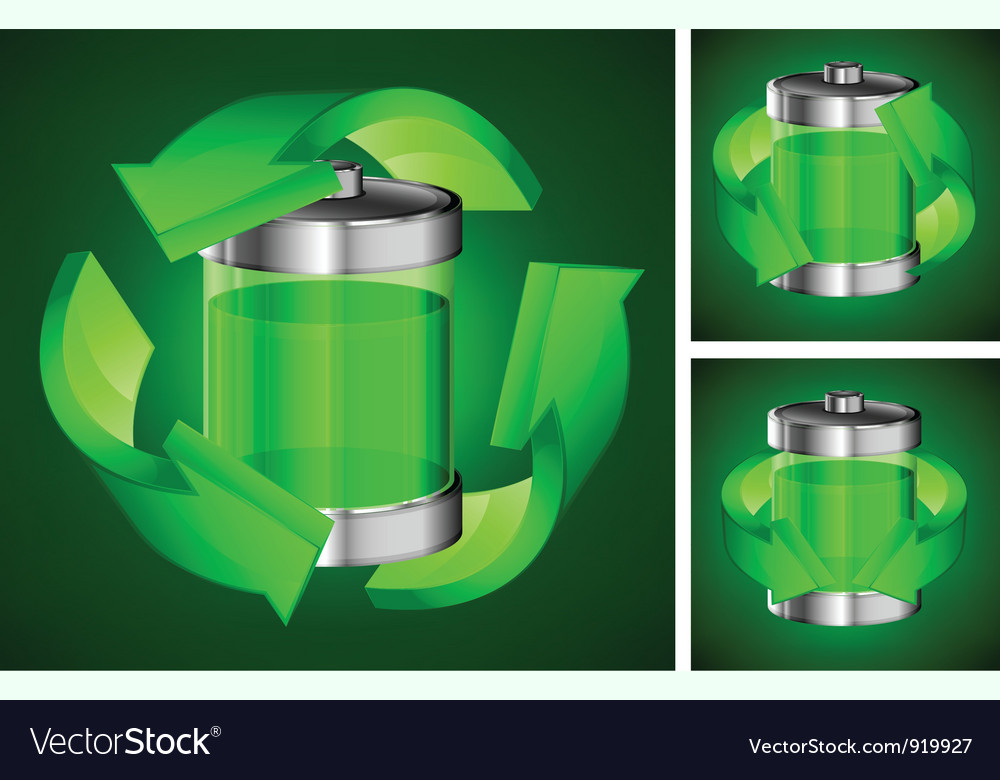 Battery recycling concept vector | Price: 3 Credit (USD $3)