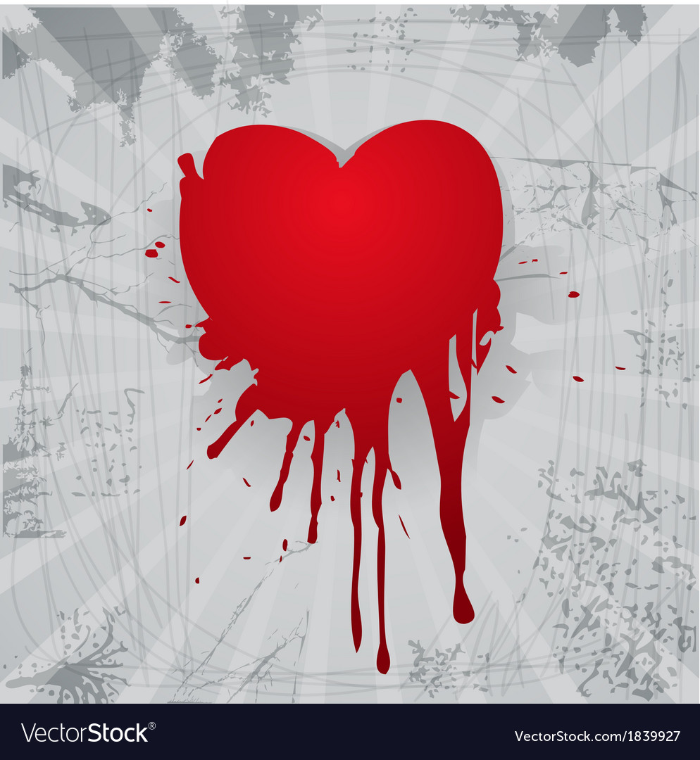 Bloody heart vector | Price: 1 Credit (USD $1)