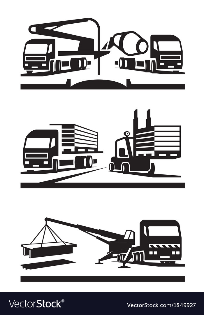 Construction and lifting transportation vector | Price: 1 Credit (USD $1)
