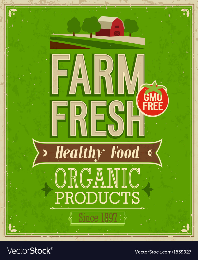 Farm fresh color vector | Price: 1 Credit (USD $1)