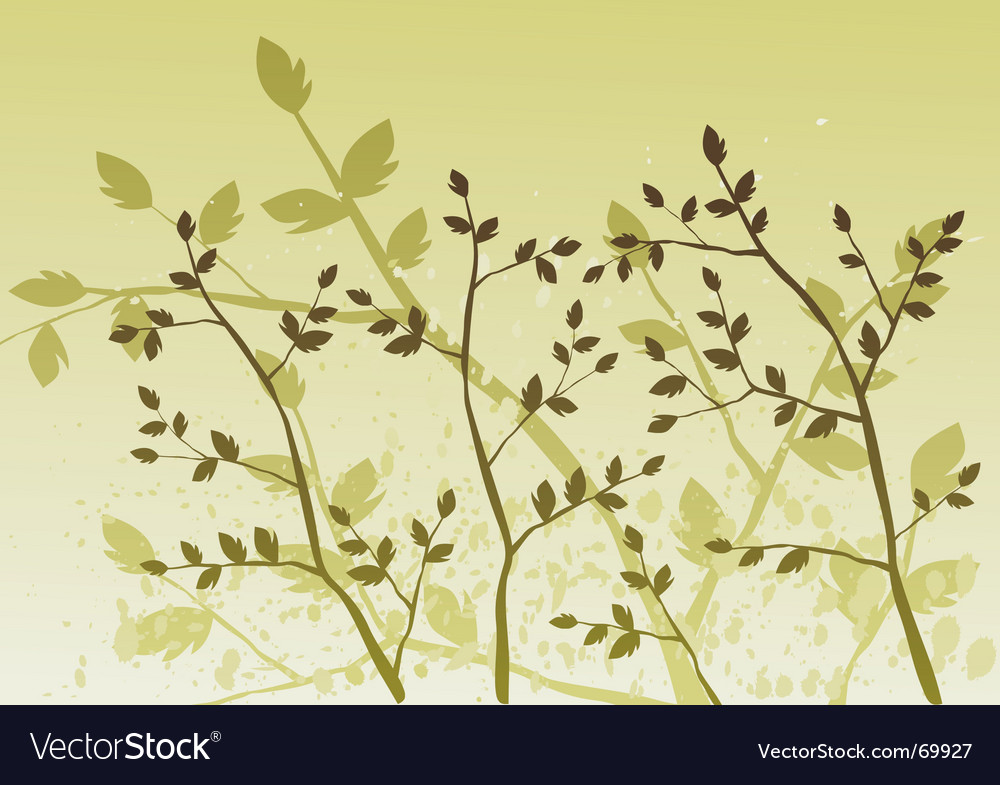 Floral background tree vector | Price: 1 Credit (USD $1)