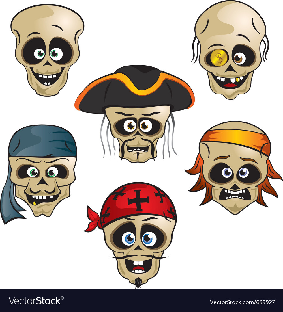 Funny pirate skull vector | Price: 3 Credit (USD $3)