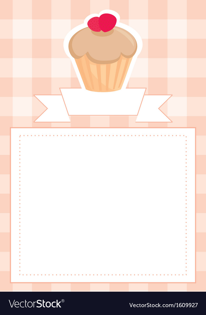 Menu wedding card or baby shower invitation vector | Price: 1 Credit (USD $1)
