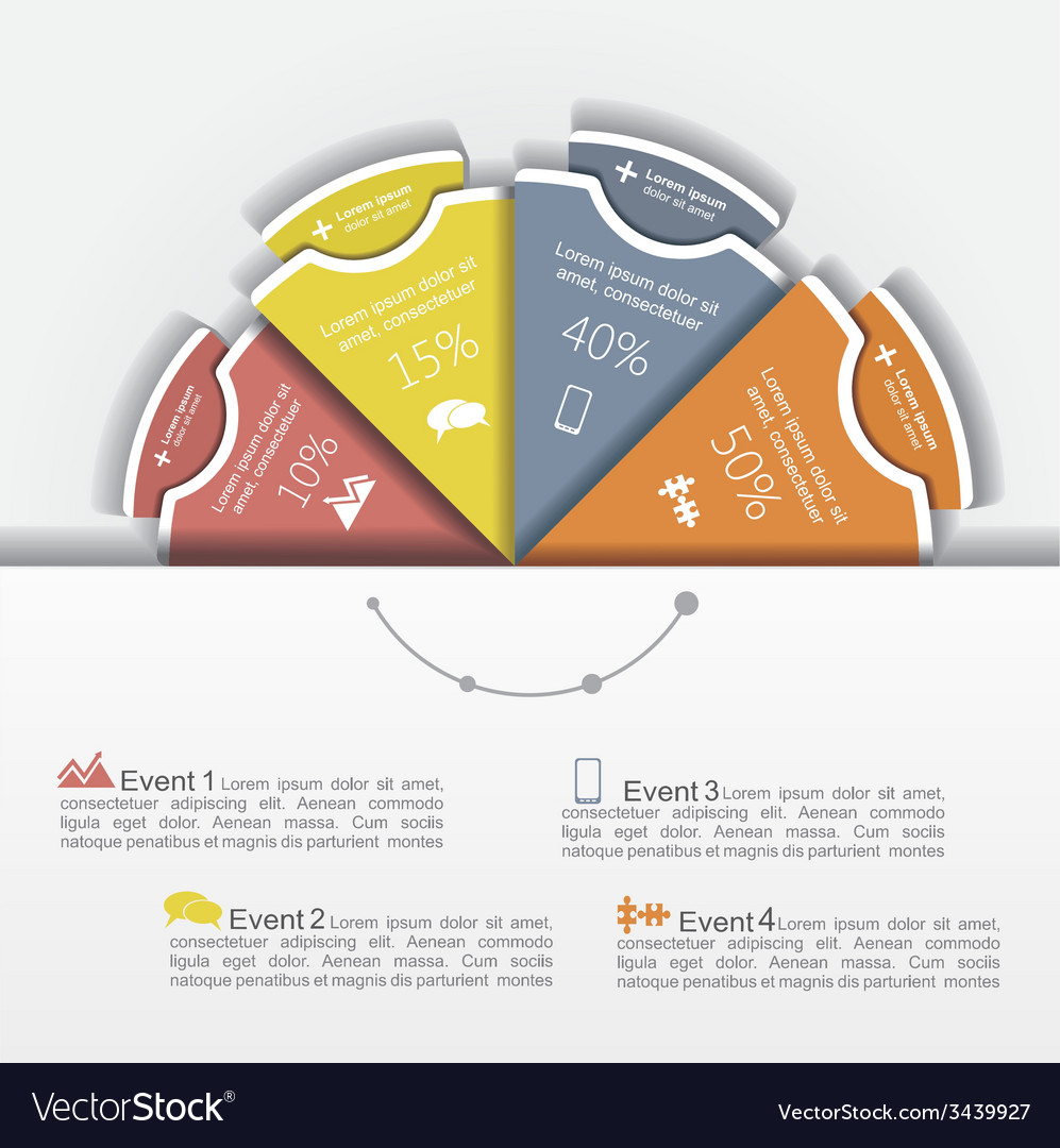 Modern business infographics circle layout vector | Price: 1 Credit (USD $1)