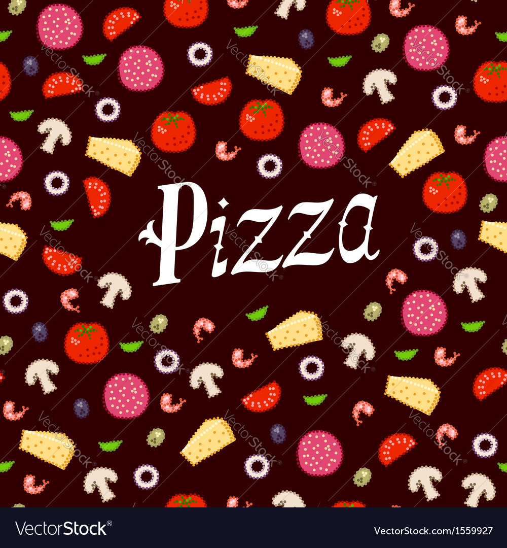 Pizza pattern headline vector | Price: 1 Credit (USD $1)