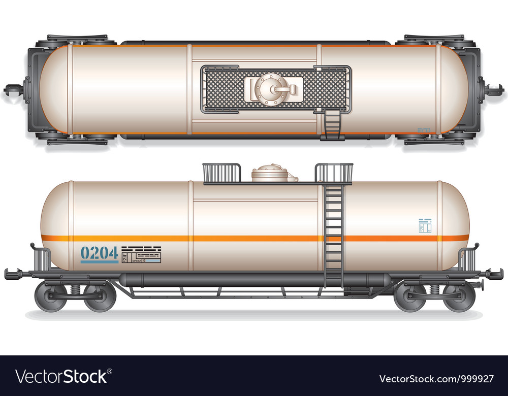 Railroad gasoline and oil tank set vector | Price: 3 Credit (USD $3)