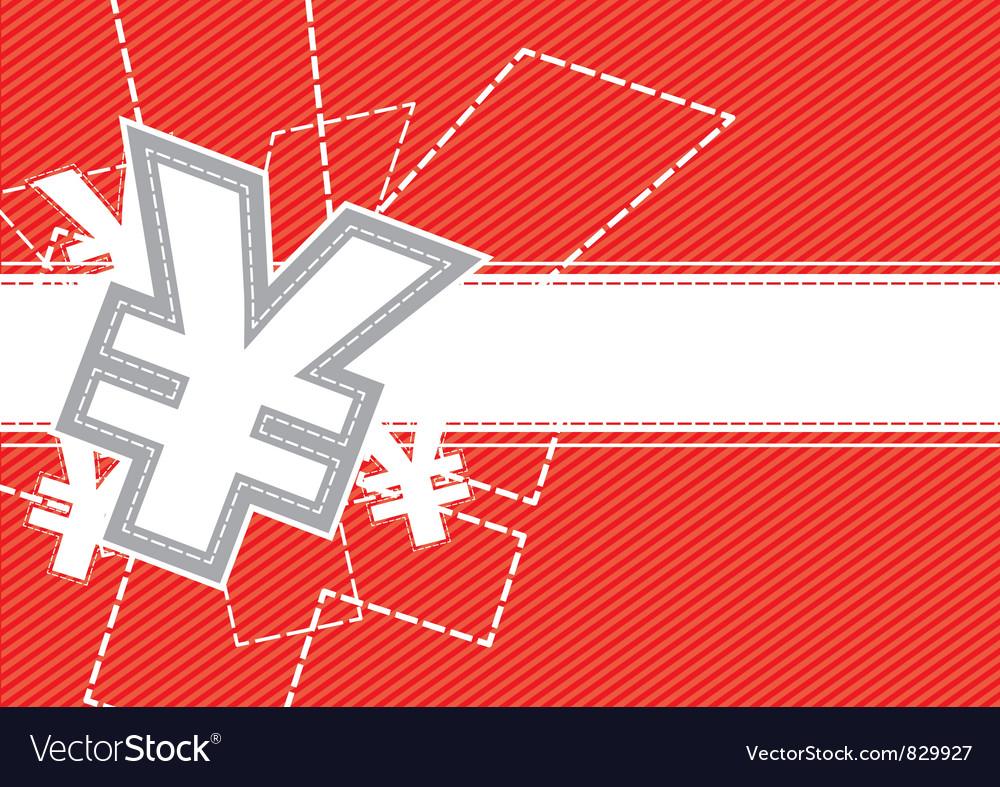 Yen money icon background vector | Price: 1 Credit (USD $1)