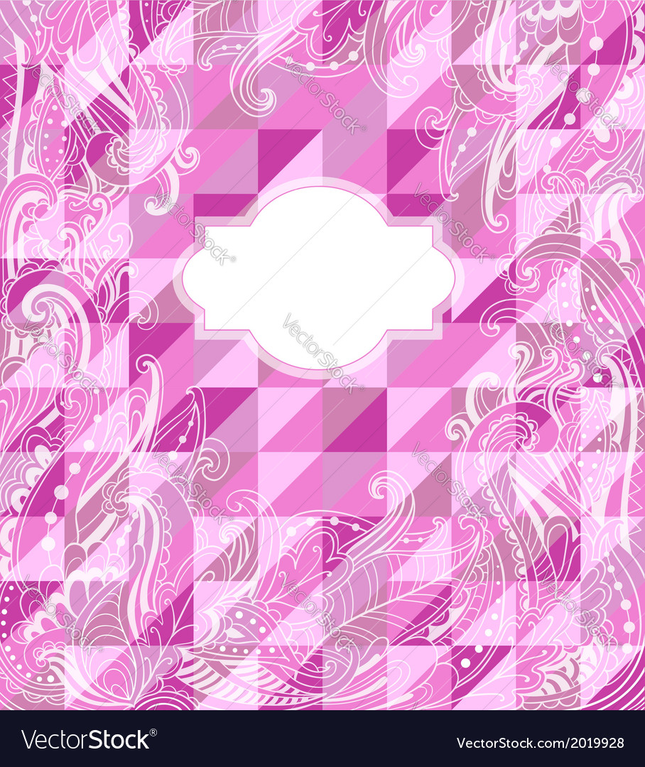 Abstract pink geometrical background vector | Price: 1 Credit (USD $1)