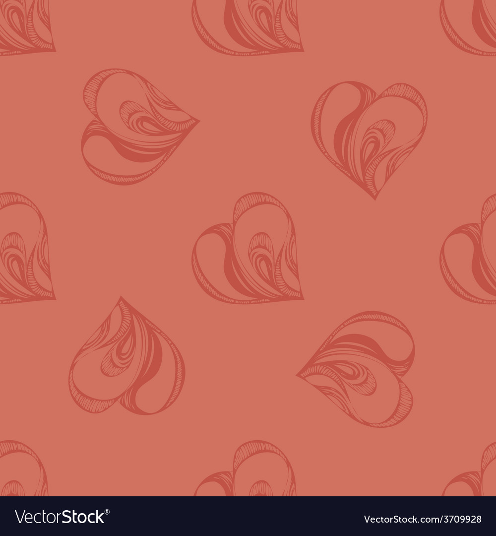 Beautiful seamless background with hearts vector | Price: 1 Credit (USD $1)