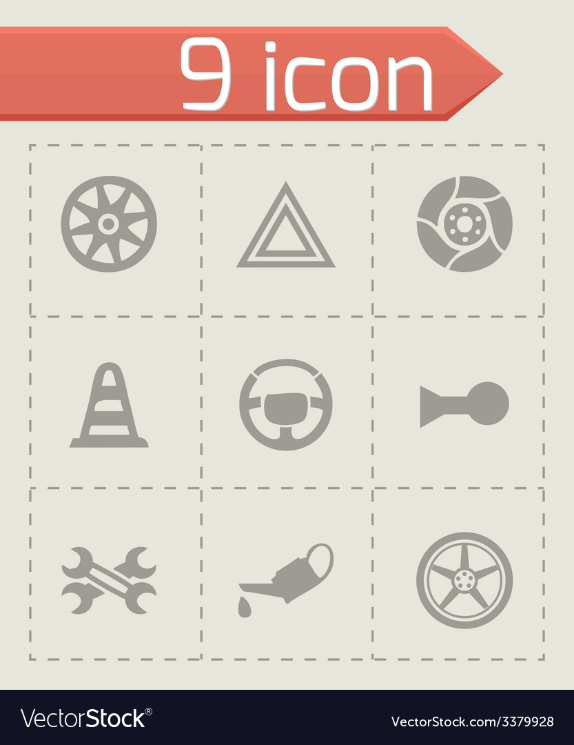 Car parts icons set vector | Price: 1 Credit (USD $1)