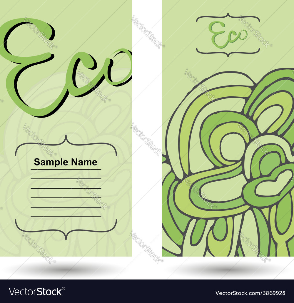 Eco business card vector | Price: 1 Credit (USD $1)