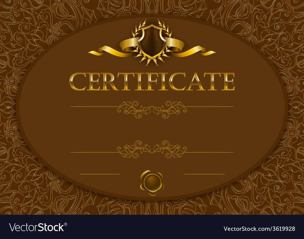 Elegant template of certificate diploma vector   Price: 1 Credit (USD $1)