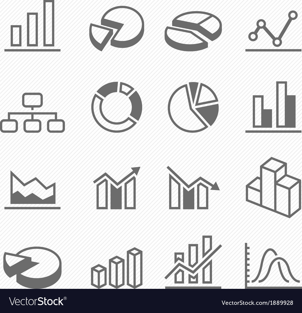 Graph outline stroke symbol icons vector | Price: 1 Credit (USD $1)
