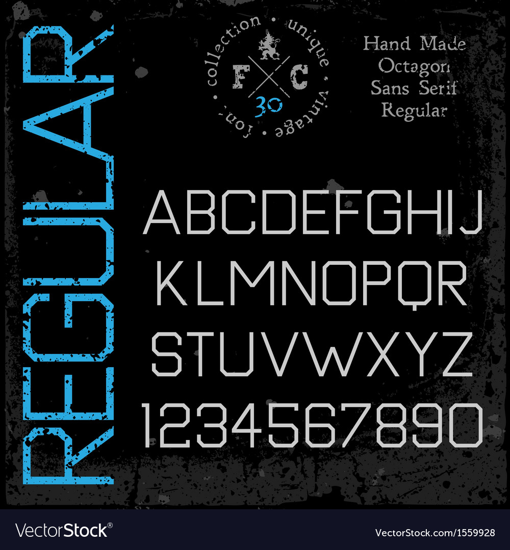 Handmade retro font sans serif vector | Price: 1 Credit (USD $1)
