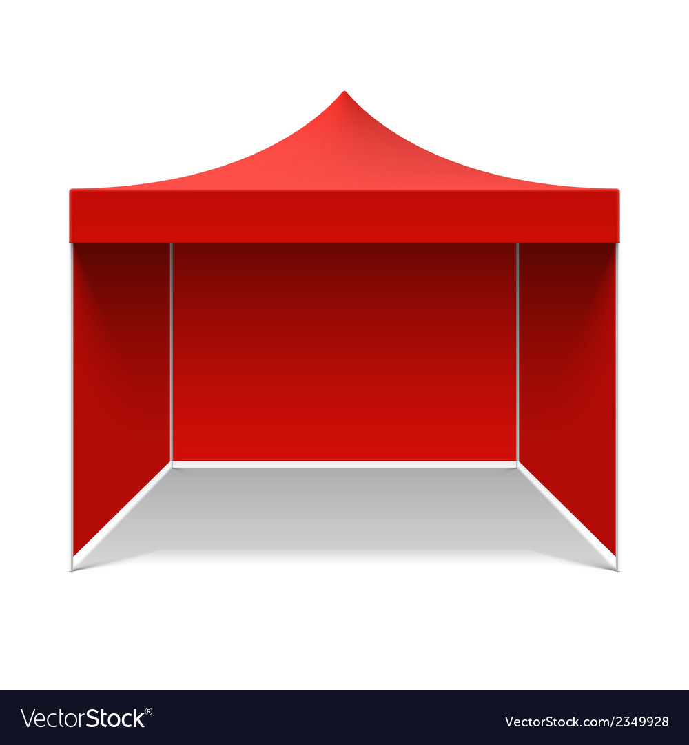 Red folding tent vector | Price: 1 Credit (USD $1)
