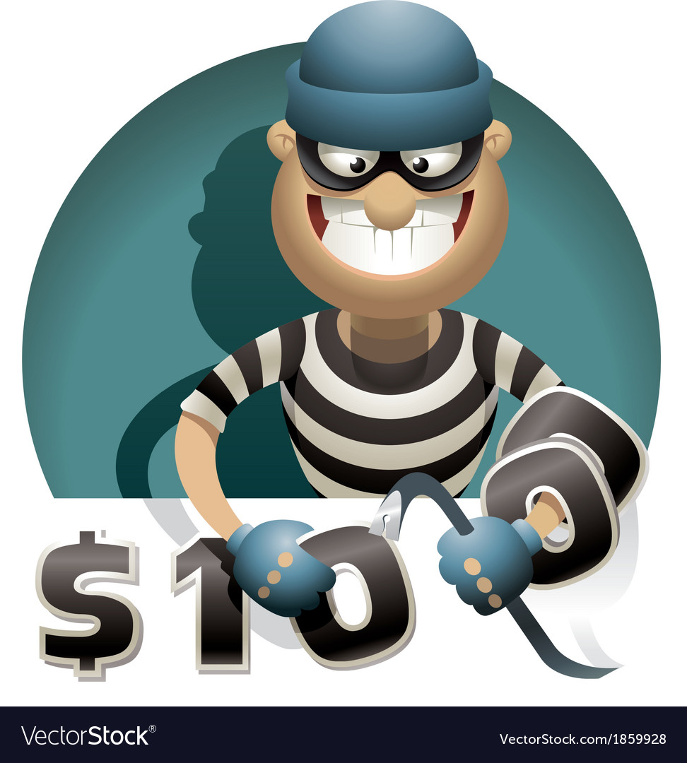 Theft money vector | Price: 5 Credit (USD $5)