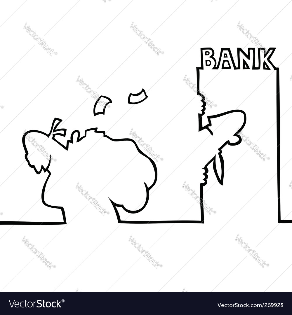 Thief running away from bank vector   Price: 1 Credit (USD $1)
