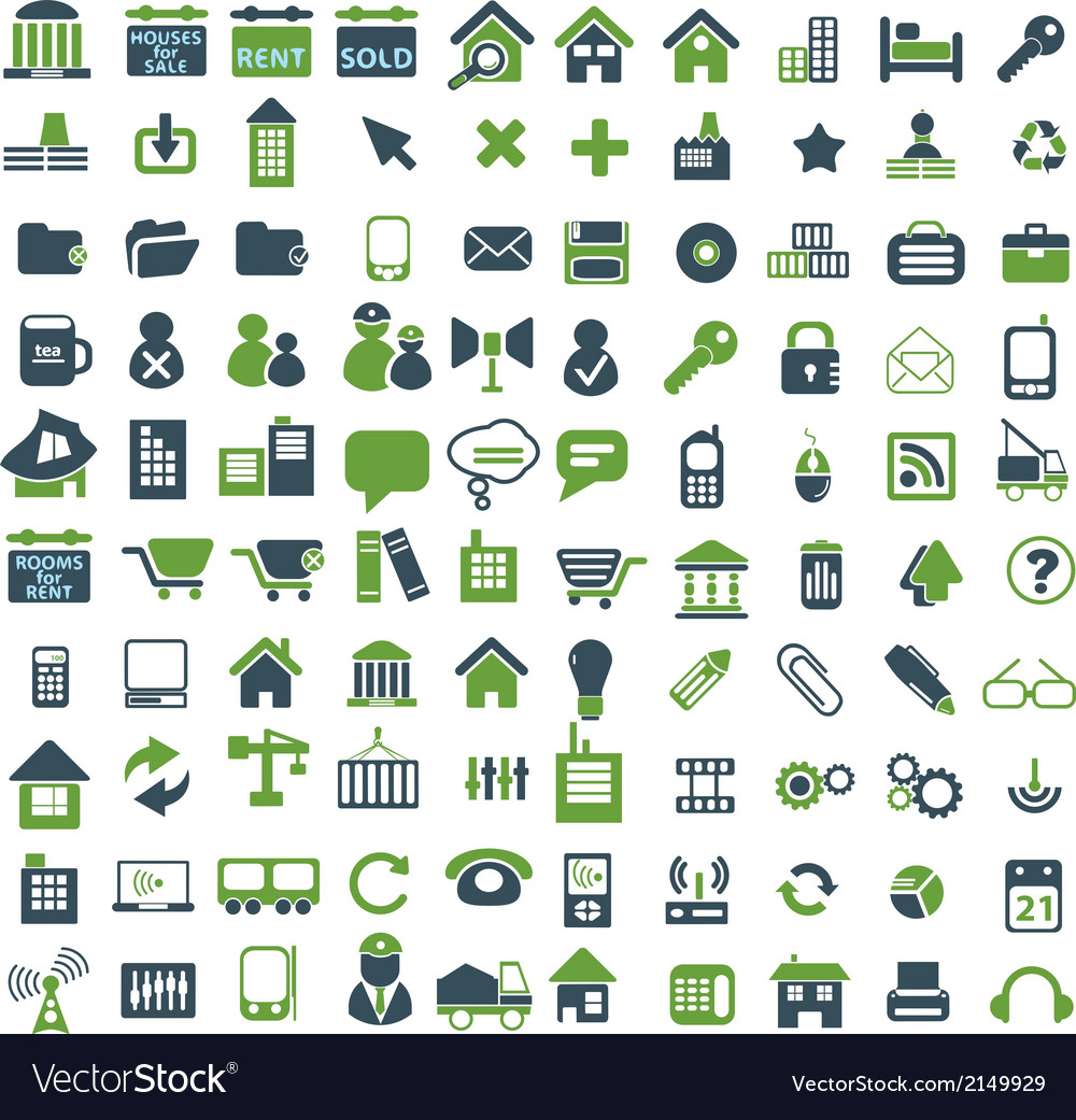 100 universal icons vector | Price: 1 Credit (USD $1)