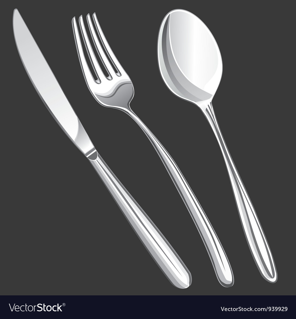 Cutlery fork spoon knife vector | Price: 1 Credit (USD $1)